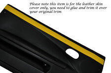 YELLOW 2X DOOR CARD TRIM LEATHER SKIN COVERS FITS FIAT COUPE 1993-2000