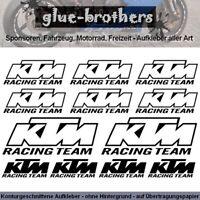 KTM Aufkleber Set Racing Team Farbwahl Motorsport Decal Sticker Sponsoren Rahme
