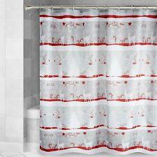 Christmas Fabric Shower Curtain Winter Forest Reindeer Bathroom Decoration New