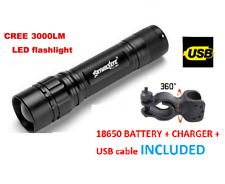 zoom front bike light USB rechargeable LED set kit heavy alloy lights waterproof