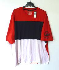 Sean John Mens Size Large Blue Red & White Striped T Shirt New
