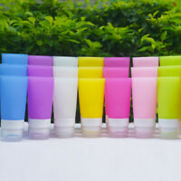 JN_ Silicone Travel Bottle Lotion Shampoo Cosmetic Tube Container Portable Rak