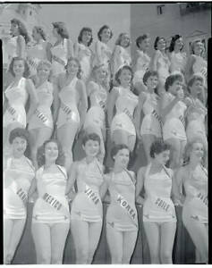 The Miss Universe beauty pageant contestants 1955 OLD PHOTO 1
