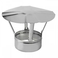 Stainless Steel Chimney Cowl Rain Cover Protector Stove Cap Top Burner Pipe Pot