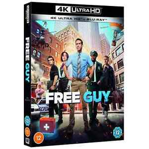FREE GUY 4K UHD INCLUDES BLU RAY / WORLDWIDE SHIPPING / BRAND NEW & SEALED