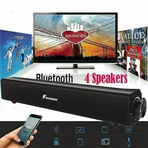 20W Bluetooth 5.0 Soundbar Subwoofer Fernbedienung Lautsprecher für TV PC Handy