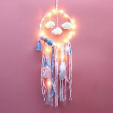 Pink Cloud LED Dream Catcher Baby Blue Pink Light up Room Decor Nursery Mobile