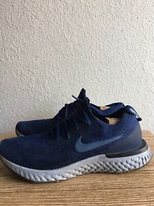 Nike Epic React Flyknit College Navy Running Shoes AQ0067-402 Men's Size 13