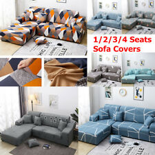 1/2/3/4 Seats Sofa Cover Couch Slipcover Stretch Elastic Fabric Settee Protector