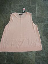 M&S Collection ~ Pale Pink Knitted Tank Top ~ Size L ~ NWT
