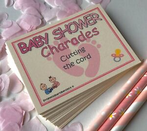 Baby Shower Games Charades Girls Funny Pink Virtual Lockdown Zoom