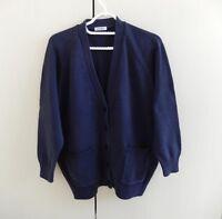 Size 18/20, Petrol Blue V Neck Cardigan, 100% Cotton, Damart