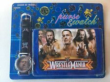 Boys WWW Wrestlemania Wrestling John Cena Undertaker Blue Wallet Watch Set 2