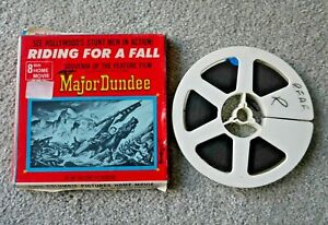 RIDING FOR A FALL MAJOR DUNDEE 8mm FILM REEL SILENT BLACK & WHITE RARE  I694