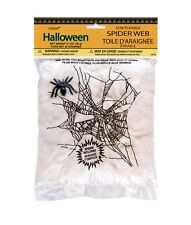 1 Halloween Stretchable SPIDER WEB w/ Spider Party Supplies Decoration Deco