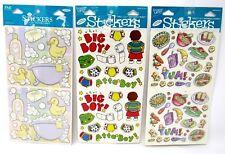 Bulk Lot #57 3 packs Frances Meyer Sticker Packs Baby Boy Bath Food 90+ pcs