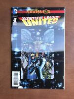 Justice League United Future End #1 (2014) 9.4 NM DC Key Issue New 52 Lenticula