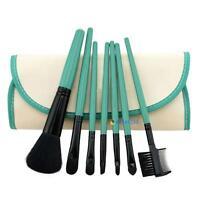 7pcs Makeup Blush Eyeshadow Lips Brush Cosmetic Brushes Set Kit + Bag Case F UP