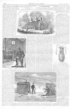 Winter Fishing on Lake Champlain  -  Greenway Court, Shenandoah Valley  -  1871