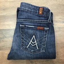 Seven 7 For All Mankind Womens Size 26 x 27 Jeans Blue A Pocket Flip Flop
