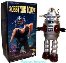 Robby the Robot Osaka Tin Toy Windup Japan Silver