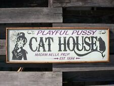"""PERSONALIZED BROTHEL WHORE HOUSE BORDELLO OLD WEST SALOON BAR WOOD SIGN 36""""x12"""""""