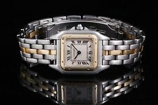 Cartier Steel & Yellow Gold Panthere 112000 22mm, Ivory Roman - 1 row / One Row