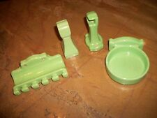 Antique Green Porcelain Bathroom Fixtures Cup Tooth brush Toilet & Paper Holder
