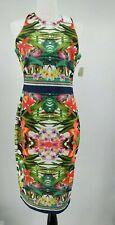 Alexia Admor NEW Blue Womens Size Medium M Floral-Print Sublimation Dress B-42