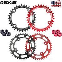 DECKAS 104BCD MTB Bike Chainring Narrow Wide Single Chainwheel Bolts 32-38T