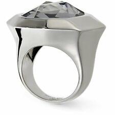 Authentic Swarovski Crystal Jean Paul Gaultier Gunmetal Cocktail Ring 55 M 7