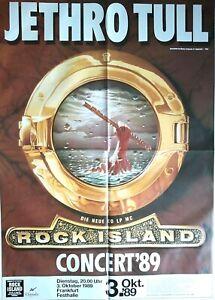 JETHRO TULL 1989 FRANKFURT - orig. Concert Poster - Konzert Plakat  118 x 84 NEU