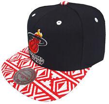 Mitchell & Ness Miami Heat Aztec snapback eu157 Caps Capuchon basecaps New Mens NEUF
