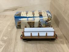 Vintage Playmobil 4105 Train G Gauge Flat Bed Flatcar & 6 Pipes with Box 1985