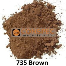 BROWN 735 Concrete Color Pigment Dye for Cement Mortar Grout Plaster 3 LBS