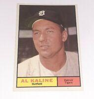 1961 TOPPS Card #429 AL KALINE TIGERS HOF