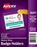 """New Avery 74471 Heavy Duty Badge Holders 25 Holders 3""""x4"""""""