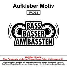 BASS, BÄSSER - Autoaufkleber Aufkleber Fun Spaß Sticker Lustige Sprüche