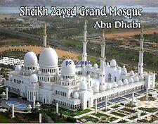 abu dhabi - sheikh zayed grand mosque - Travel Souvenir Fridge Magnet