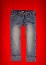 "Edc by Esprit 7/8 Stretch hüftjeans ""Low Five"" Blue Denim talla 36 w28 mercancía nueva!!! top!"