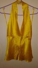 Miguelina silk halter top, size M