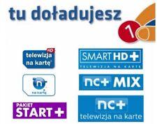 SMART i MULTI 12miesięcy Telewizja na Karte NC+  Aufladung Doładowanie  prepaid