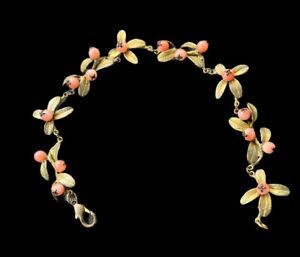 Michael Michaud Bronze seed coral leafs bracelet