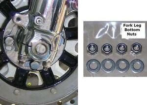 Kawasaki Z650/Z900/Z1000/H2C/J Series - Fork Bottom Nuts Set - Stainless Steel