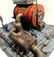 """WARHAMMER 40K SCENERY-TERRAIN """"FUEL TANK POSTATION"""" PRO PAINTED LIMITED EDITION"""