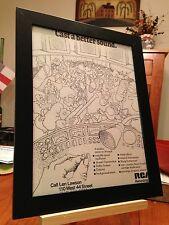 """FRAMED ORIGINAL & RARE """"RCA RECORDING STUDIO"""" NEW YORK CITY PROMO AD"""