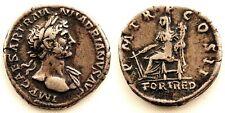 Roma-Adriano (117-138). Denario. Roma. MBC+/VF+ plata 3 g. Bonita y escasa.