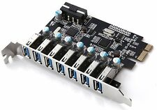 Superspeed 7 Ports PCI-E to USB 3.0 Expansion Card PCI Express Internal