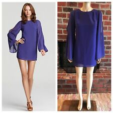 Dolce Vita Purple Starling Dress Cutout Sleeves Lace Up Back Sz Small NWT *READ