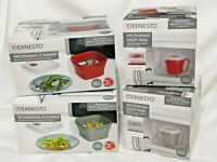 Set Microwave Steamer + Microwave Soup Mug Low Fat Cooking Hot Drinks New Sealed
